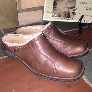 UGG Langford Mules #5744 Size 7.5 Brown Slip-On